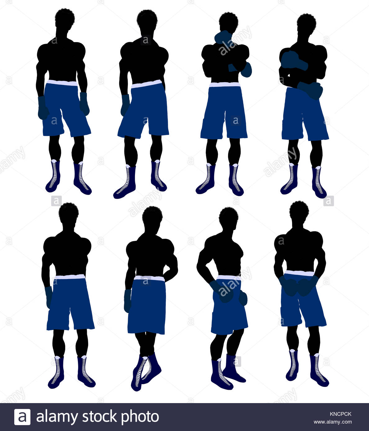 1189x1390fricanmerican Male Boxingrt Illustration Silhouette On