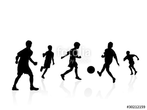 500x376 Boys Soccer Players Silhouette Stock Image And Royalty Free