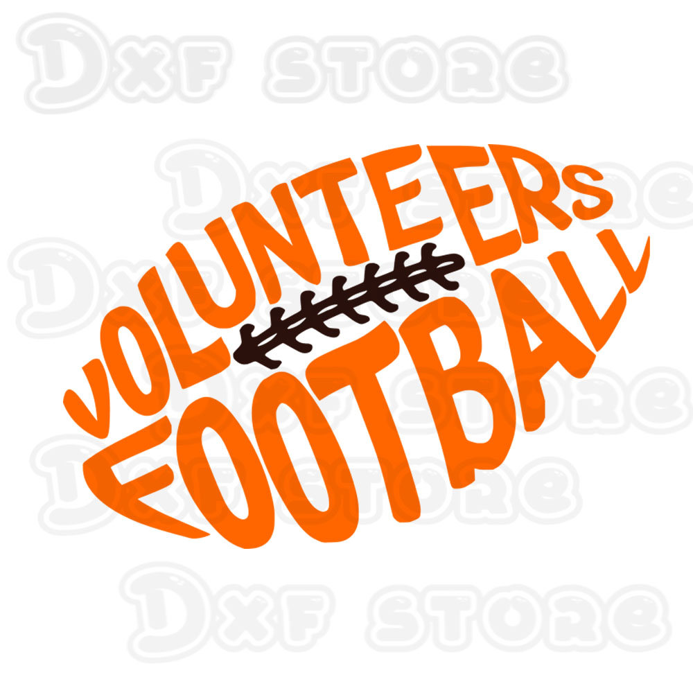 1000x1000 Volunteers Football, Tennessee,football,college Team Svg,dxf,png