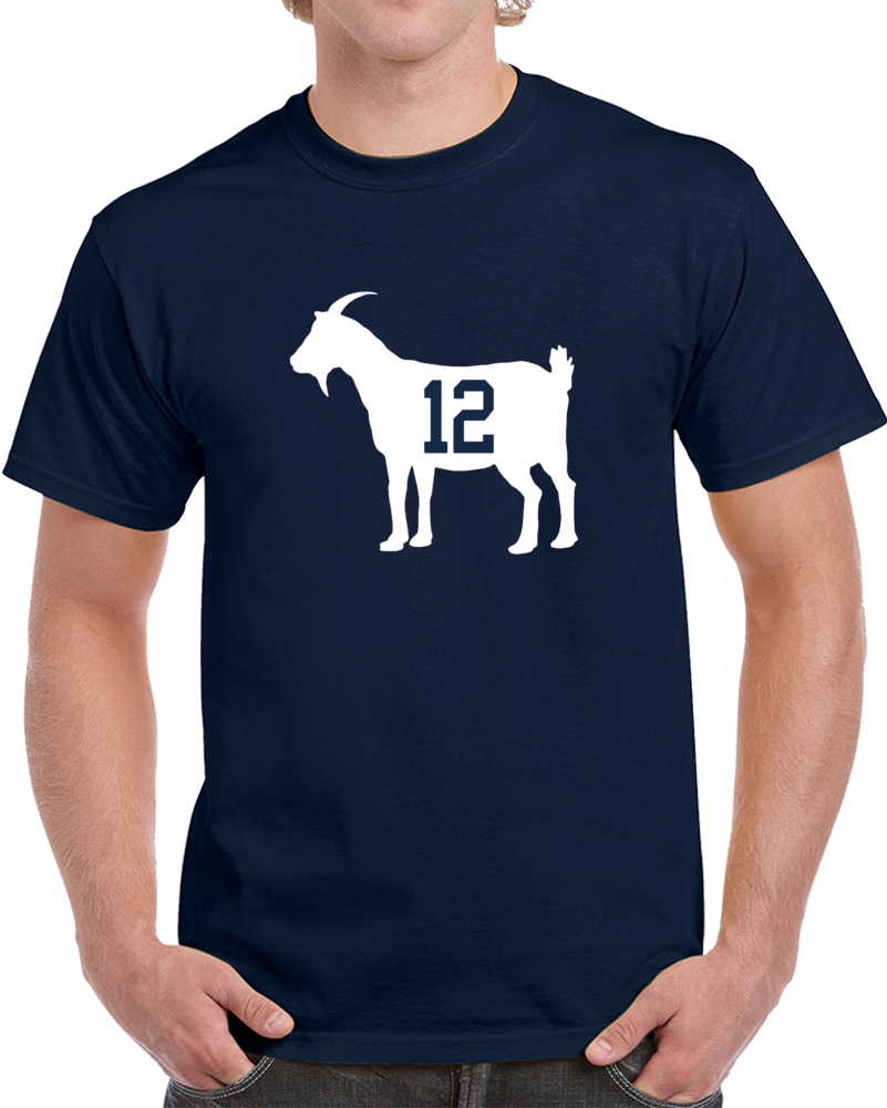 801x1001 Brady Goat Silhouette 12 New England Football Team T Shirt