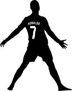 236x297 The Footballer. Silhouette Art Silhouette Art
