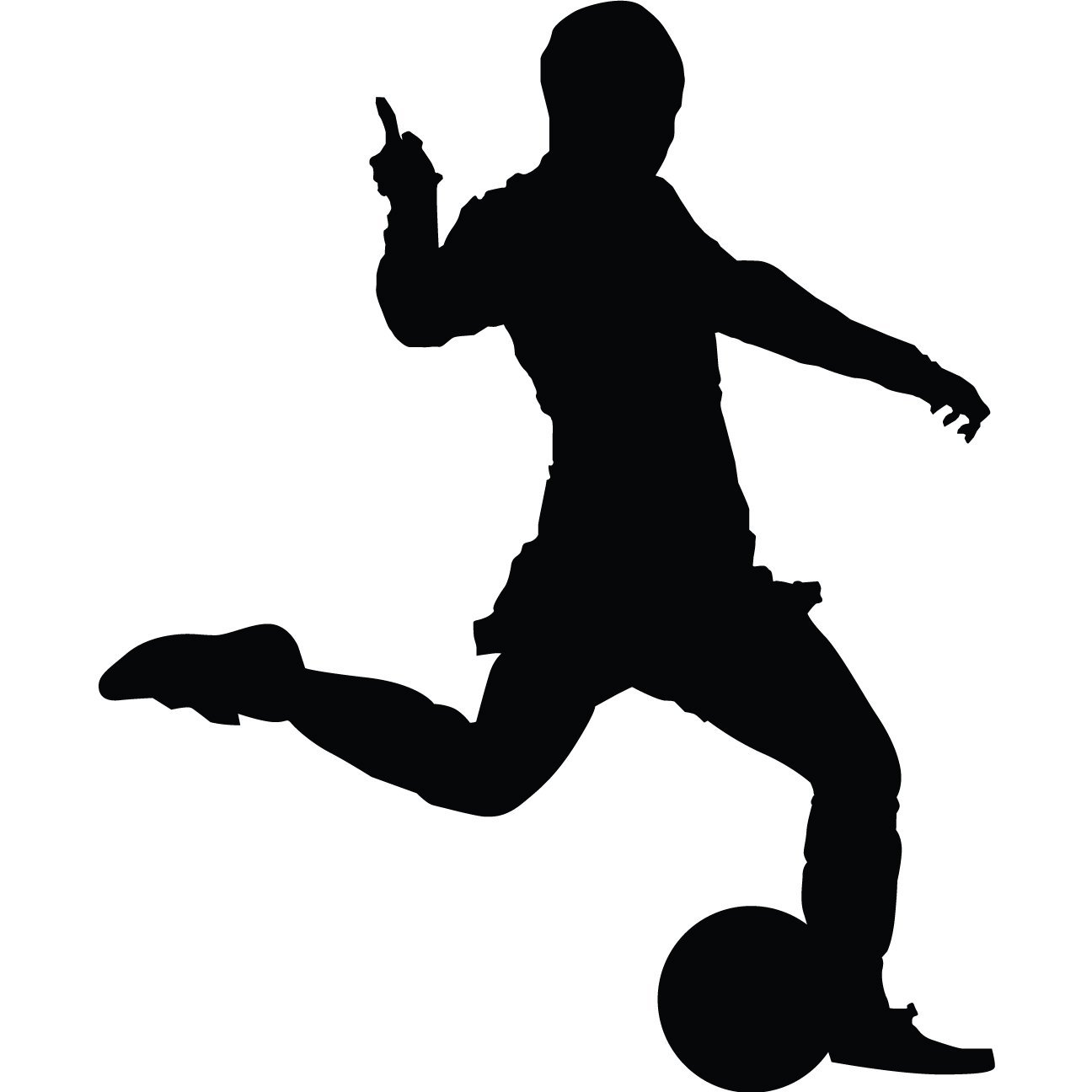 1296x1296 Soccer Player Silhouette Clipart Library