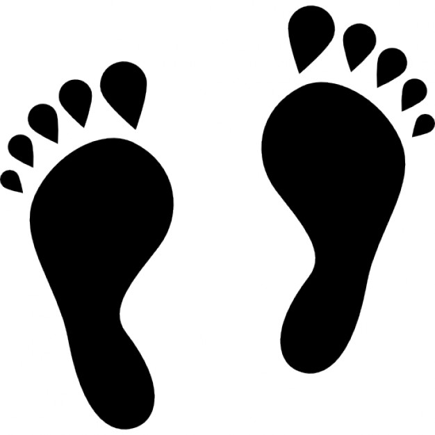 626x626 Human Footprints Shape Icons Free Download