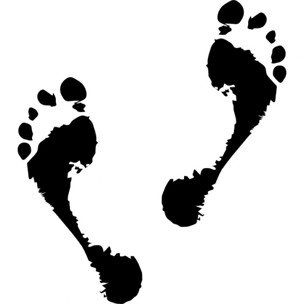 626x626 Fading Human Footprints Icons Free Download