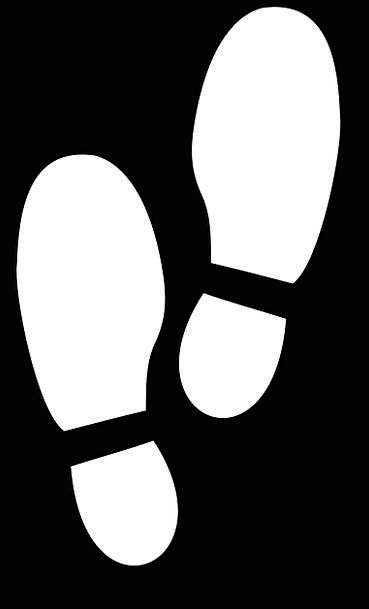 369x609 Footprints, Paths, Track, Path, Soles, Mark, Silhouette, Outline