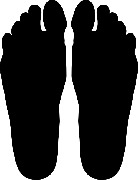 456x595 Feet Silhouette Clip Art