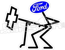 223x172 Ford From Behind Chev Decal Sticker