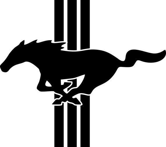 570x505 Ford Mustang Logo Emblem Vinyl By Freshcutcustomvinyl On Etsy