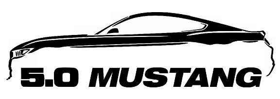576x204 2005 9 Ford Mustang Coyote 5.0 Gt Outline Silhouette Art Wall