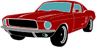 190x94 Classic 1960's Ford Mustang Silhouette Clipart By Kyodigitalstudio