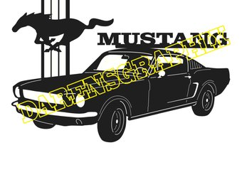 340x270 Classic 1966 Muscle Car Clip Art Image