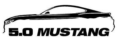 400x141 2005 9 Ford Mustang Coyote 5.0 Gt Outline Silhouette Art Wall