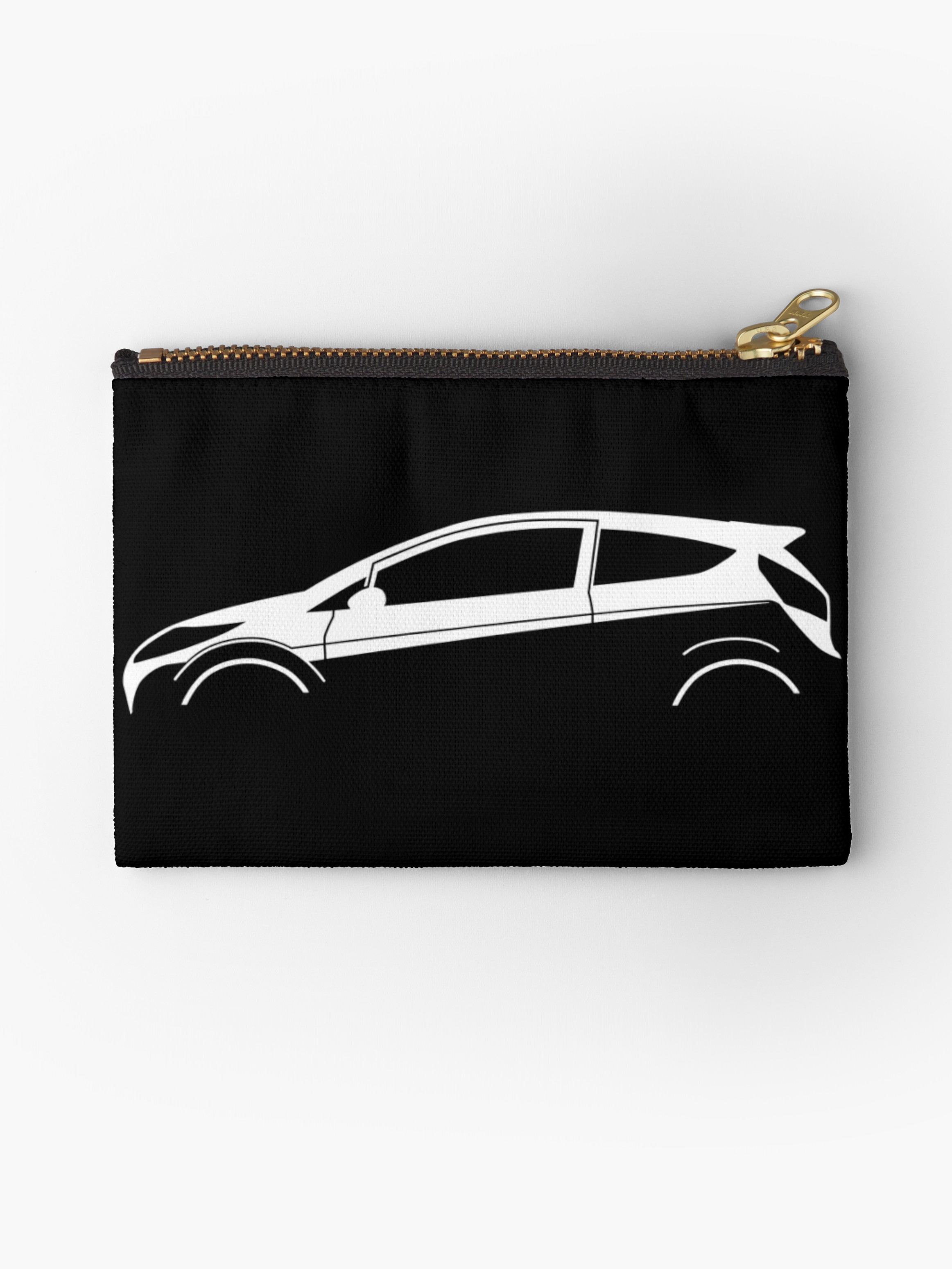 2325x3100 Car Silhouette For Ford Fiesta Mk7 Enthusiasts Studio Pouches By