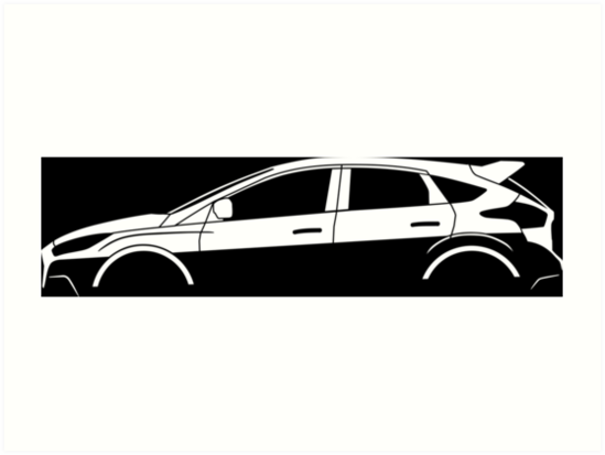 549x413 Car Silhouette For Ford Focus Rs 2016 (Mk3) Enthusiasts Art