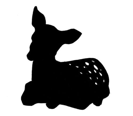 564x493 Fawn Silhouette Clip Art