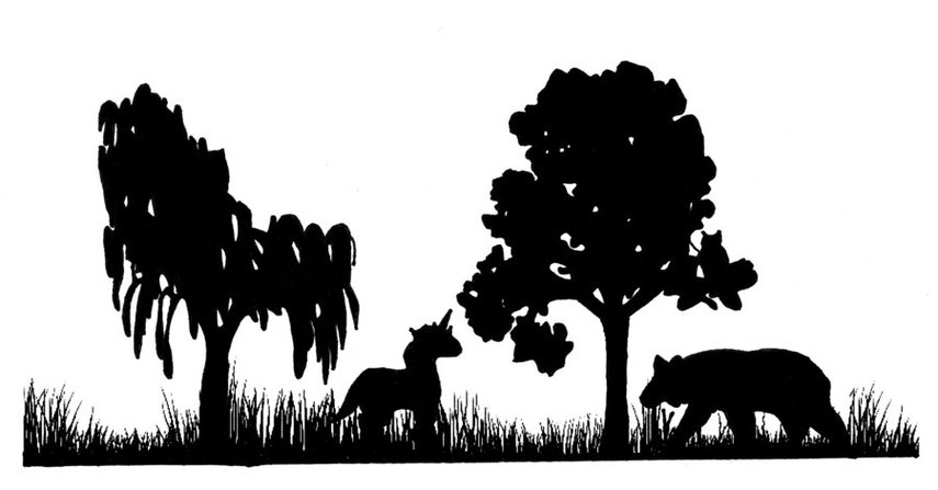 855x447 Forest Silhouette Clipart