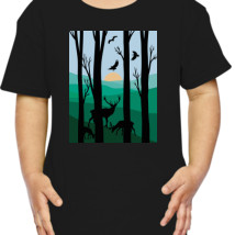214x214 Arctic Monkay Silhouette Toddler T Shirt