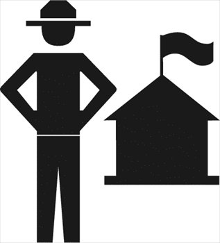 317x350 Free Forest Ranger Clipart