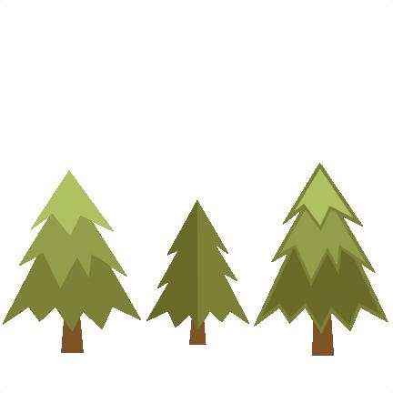 432x432 Pine Tree Silhouettes Clip Art