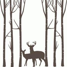236x236 Forest Shilouettes Forest Clip Art