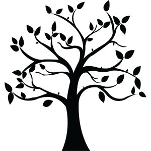 300x299 Forest Wedding Lovely Simple Tree Silhouette Clipart Best