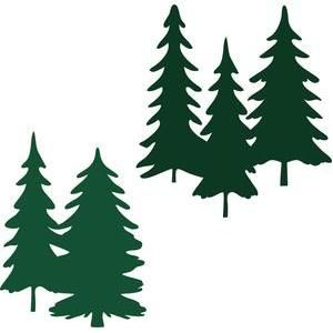 300x300 Forest Tree Bunches Silhouette Design, Silhouettes And Craft