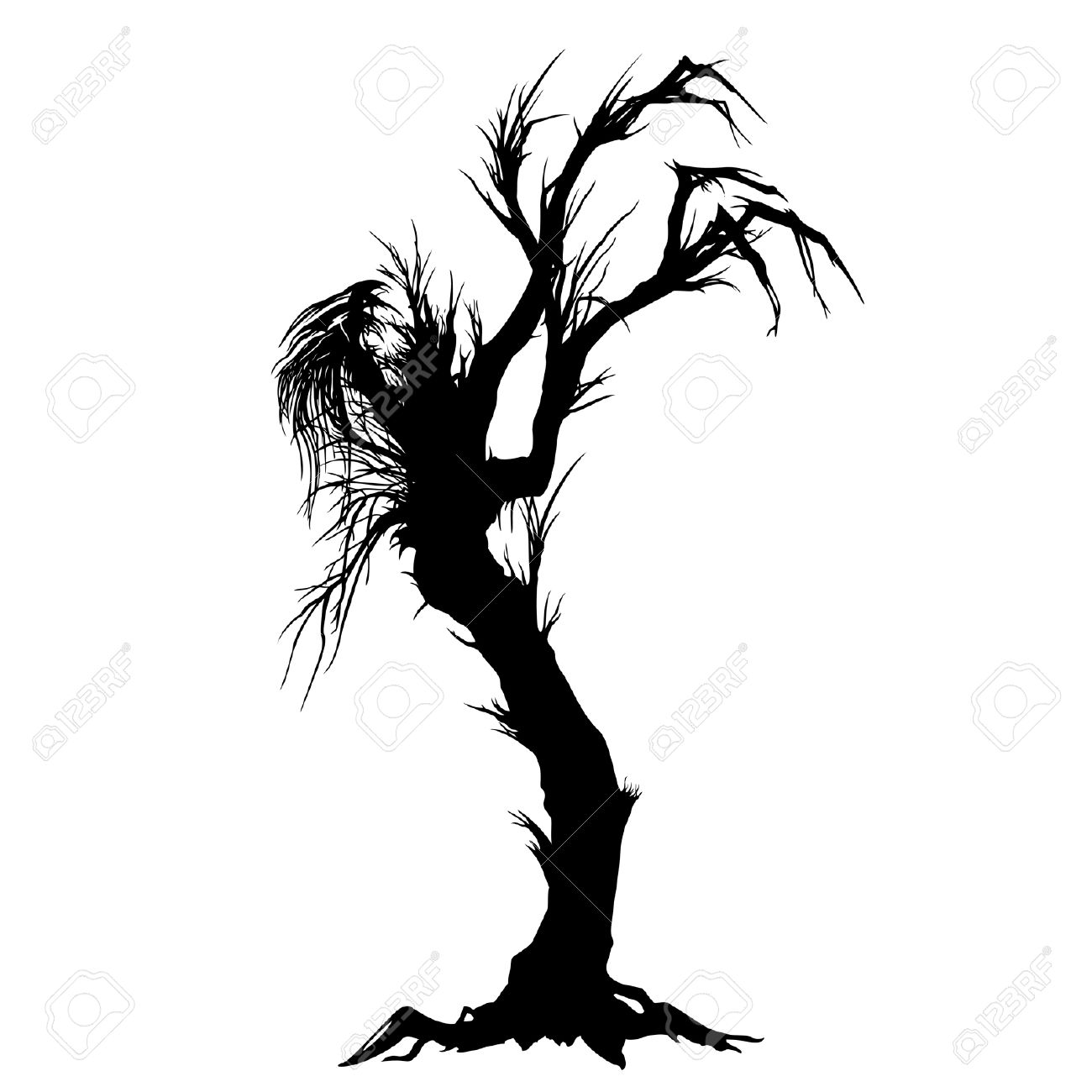 1300x1300 Dead Tree Clipart Spooky Forest