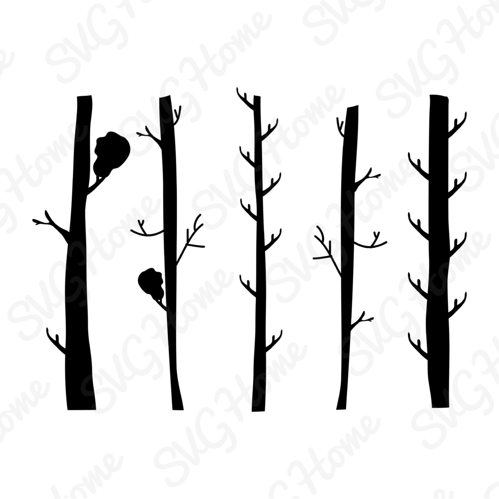 1024x1024 Forest Tree Trunk Cut File Bundle In Svg Dxf Eps Png File Formats