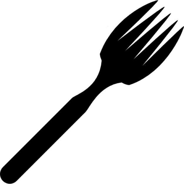 626x626 Fork Eating Tool Silhouette In Diagonal Icons Free Download