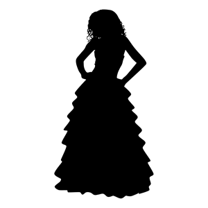 300x300 Formal Gown Woman Silhouette Clipart, Cliparts Of Formal Gown