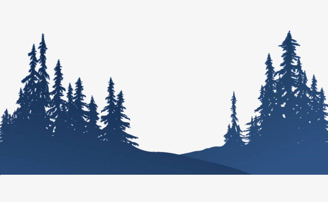 650x400 Pine Silhouette, Blue,est, Pinewood Png Image And Clipart
