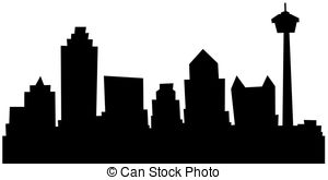Fort Worth Skyline Silhouette