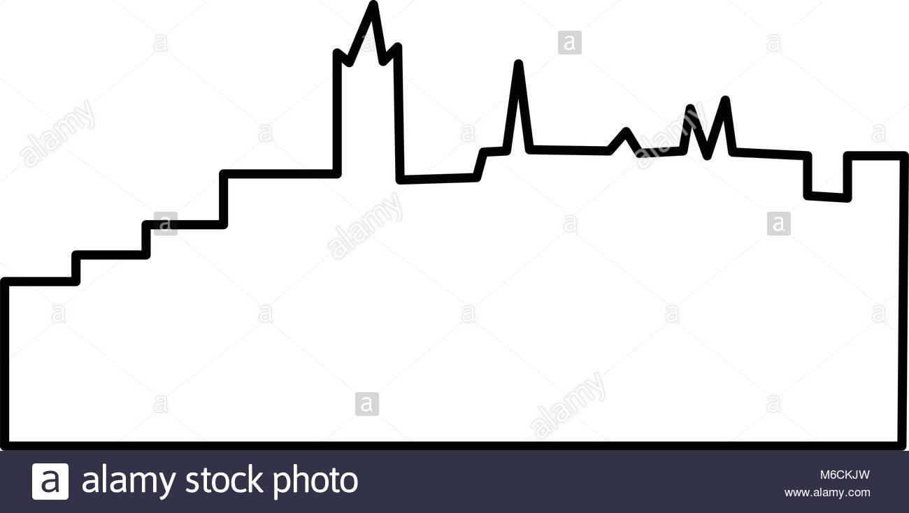1300x734 Edinburgh Skyline Stock Vector Images