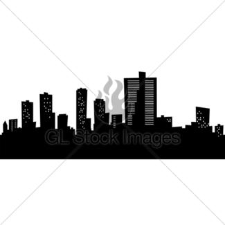 325x325 Fort Worth, Texas Skyline. Detailed Vector Silhouette Gl Stock
