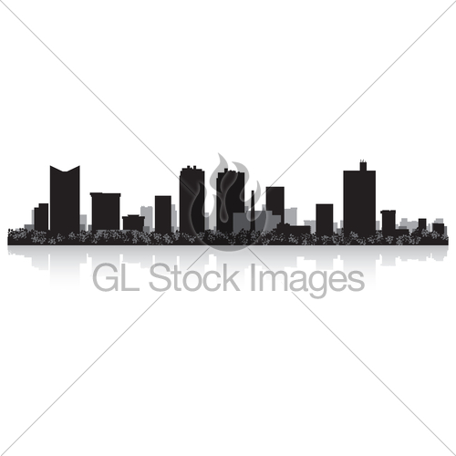 500x500 Fort Worth City Skyline Silhouette Gl Stock Images