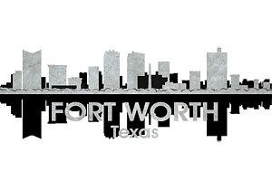 300x200 Fort Worth Skyline Art
