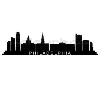 320x280 Philadelphia, Pennsylvania Skyline Detailed Vector Silhouette