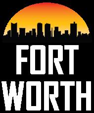 190x228 Sunset Skyline Silhouette Of Fort Worth Tx T Shirt Spreadshirt