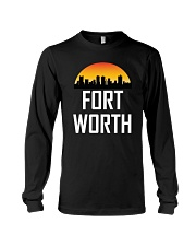 180x225 Sunset Skyline Silhouette Of Fort Worth Tx