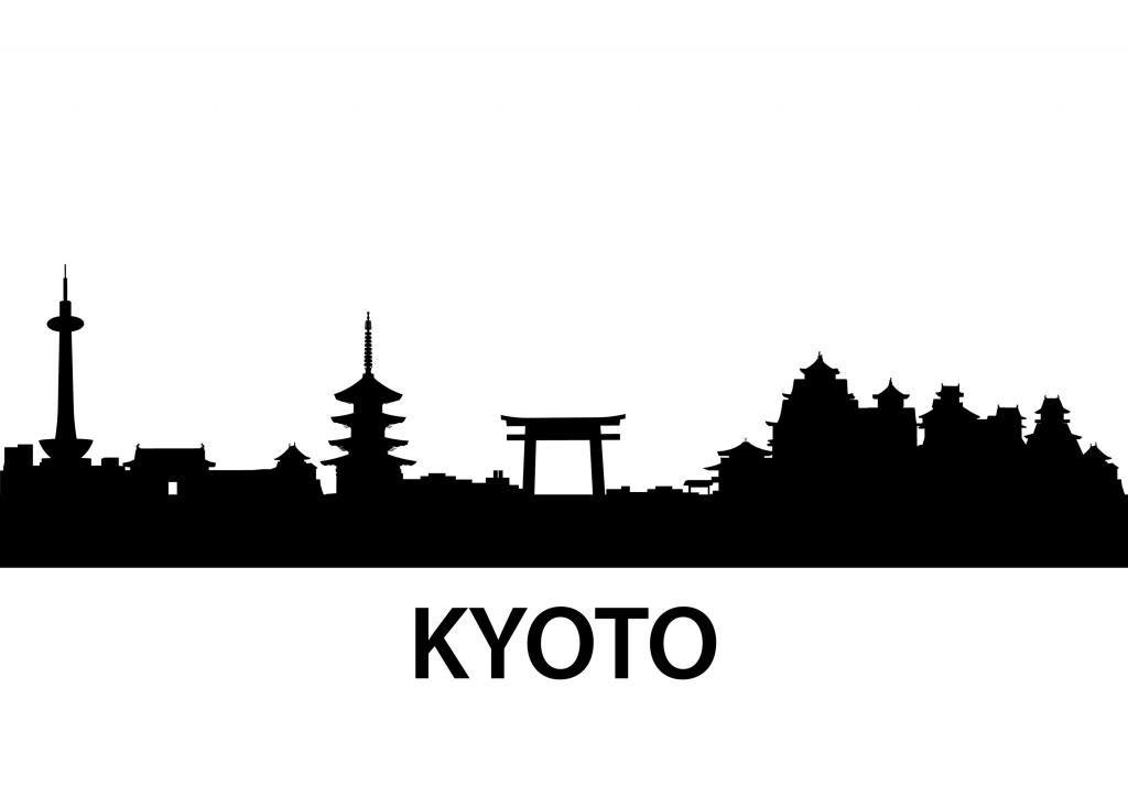 1024x724 Silhouette Skyline Kyoto