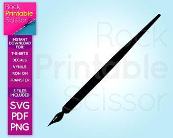 340x270 Fountain Pen Svg Vector Fountain Pen Silhouette Pen Svg