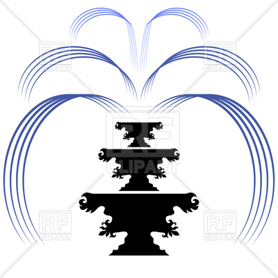 400x400 Retro Fountain Silhouette Icon On A White Background Royalty Free