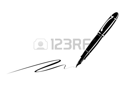 450x310 An Old Fountain Pen Stock Clipart Panda