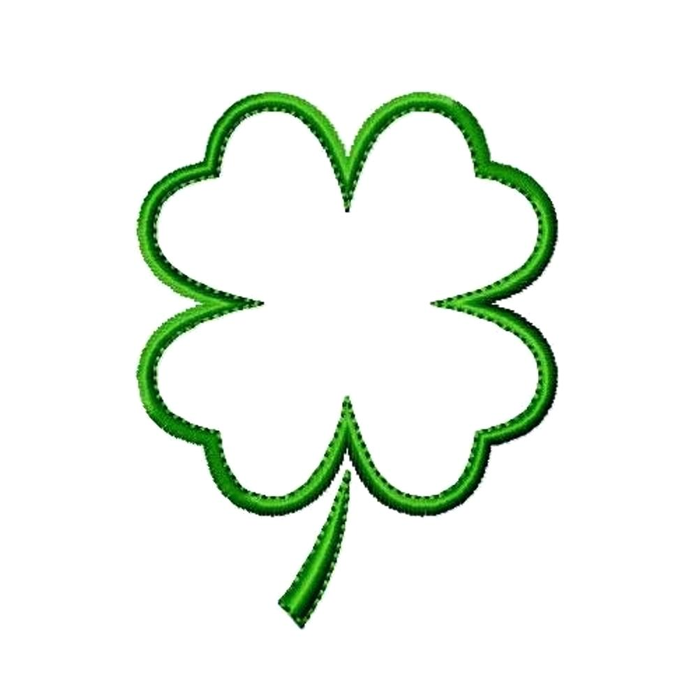 1000x1000 Challenge Printable Four Leaf Clover Template Of A Shamrock