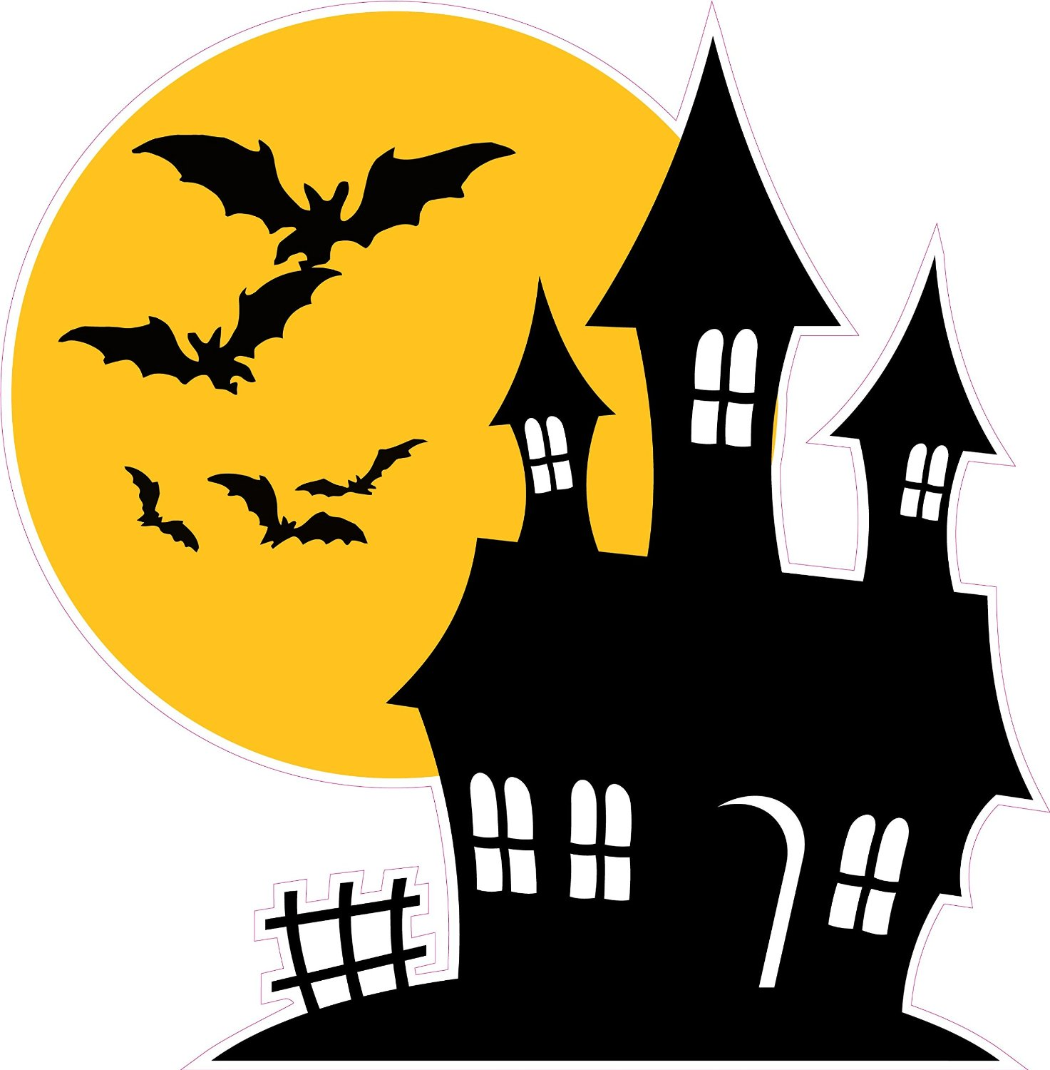 1473x1500 Clipart Haunted House Silhouette Beauteous Houses Silhouettes