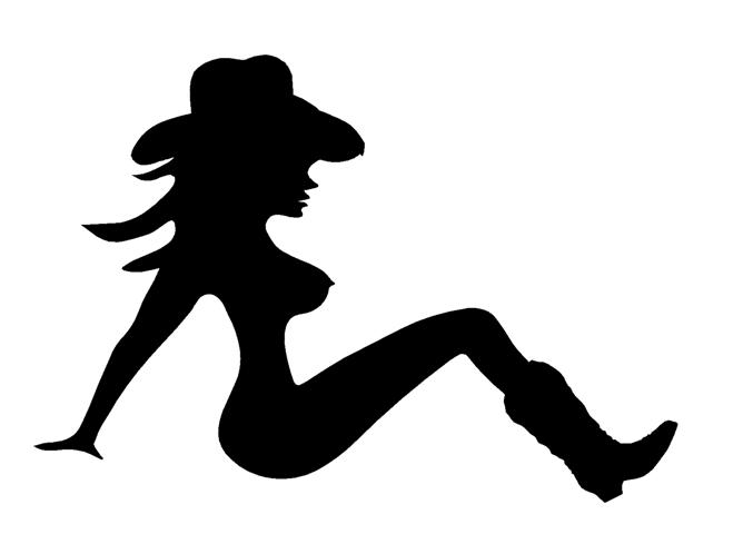 659x480 Cowgirl Silhouette 1 Decal Sticker