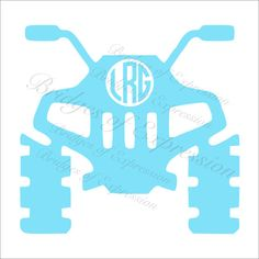 236x236 Four Wheeler Monogram Decal Atv Decal Yeti Monogram Southern