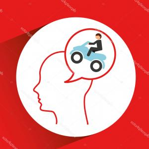 300x300 Photostock Vector Person Riding Quad Bike Atv Male Silhouette Four