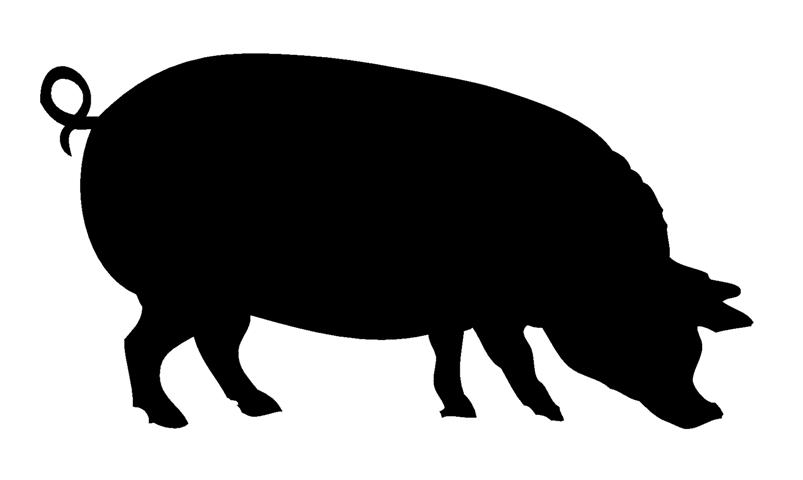 803x480 Pig Silhouette 4 Decal Sticker