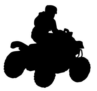 320x300 Atv Silhouette 4 Decal Sticker